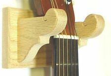 Oak Wooden Guitar Hanger Classy Wall Mount Display - Unfinished Wood