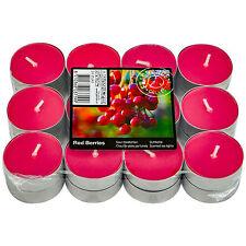 Pack of 24 Scented Red Berries Tea Lights 4 Packs