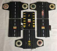 Lot 6 Rails arrivée / Départ En Plastique Rigide Pour Circuit Scalextric