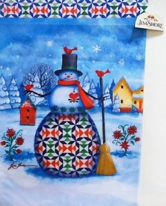 Jim Shore Snowman Standard House Flag by Evergreen, Colorfast , #3646