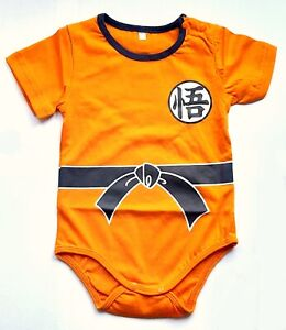 Baby Body Baby Dragon Ball Z Goku Logo Orange Infant Snapsuit