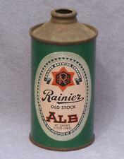 Vintage 1941 Rainier Old Stock Ale Cone-Top Beer Can San Francisco Brewing- Nice