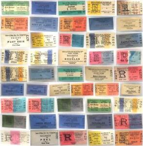 Genuine Vintage Many Different Tickets Railway Isle of Man Some Blank.