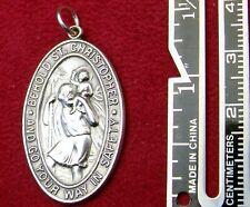 Carmelite Nun's Vintage Sterling Silver St. Christopher Pilgrimage Rosary Medal