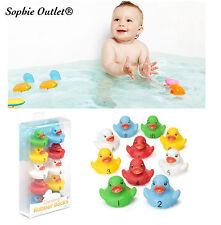 10x Colorato Contare Vasca Anatre Set Toy Bimbo Bambino Tempo Del Bagno Gioco