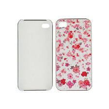 Smartprotectors! Hardcase Cover for IPHONE 4/4S Silver Flowers Flowers