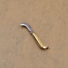 EDC Brass Retro Keychain Accessories Mini Carving Folding Portable Decor New