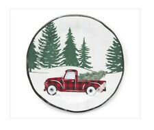 Holiday Buffalo Plaid Truck Melamine Plates Set Of 4 Christmas Appetizers