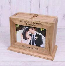 Personalised Wooden 6x4 Wedding Day Photo Album Names Mr & Mrs Gift Anniversary
