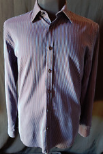 MENS SHIRT BROOKSFIELD LONG SLEEVED BUTTON UP 100% COTTON SIZE LARGE