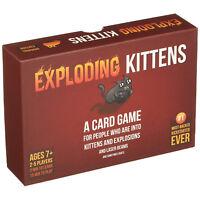 Exploding Kittens Card Game Family Party Kids Children Fun Play Gift Beginner