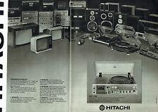 Publicité Advertising 028  1978   Hitachi (2p) hi-fi  ampli  compact FM