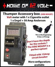Thumper Accessory box Volt - SIDE ENTRY Cigarette + Engel Fridge + 50A Anderson