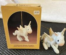 Vintage Precious Moments Christmas Ornament Unicorn 1982