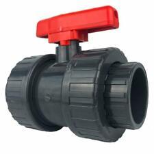 well2wellness® PVC-Kugelhahn mit 2-Wege Klebeanschluss 50mm - roter Griff