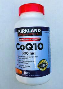 Kirkland Signature CoQ10 300mg 100 / 200 Softgels Heart Support