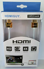 Ultra HD HDMI Cable 12 foot white/gold