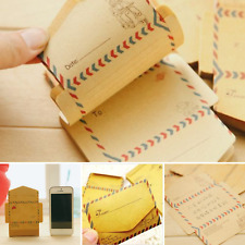 Mini Retro Vintage Kraft Envelopes For Crafts Arts Greetings Postcards 50 Pieces