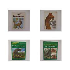 4 livres La vie secrète des bêtes DINOSAURES LES GEANTS DE NOTRE PLANETE 1979-90
