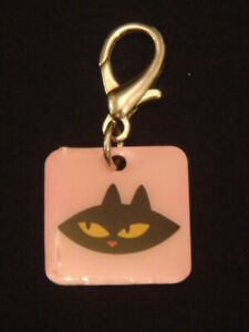 Paul Frank Pink Pet ID Name Collar Identity Tag Charm Disc Dog Cat Puppy New