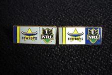 2 X North Queensland Cowboys NRL émail badges