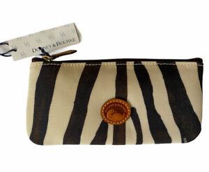 NEW Dooney & Bourke Zebra Black and White Wristlet Wallet Coin Purse Bag NWT