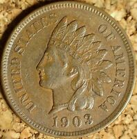 1903 Indian Head Cent - EXTREMELY FINE+ COIN AS SHOWN (J691)