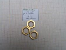 3 ECROUS BOL DORE 498 & autres MOULINETS MITCHELL BRASS HEX NUT REEL PART 81486