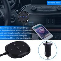 Wireless Car Kit Bluetooth Receiver Handsfree Call 3.5mm Aux Audio Music Sound 1
