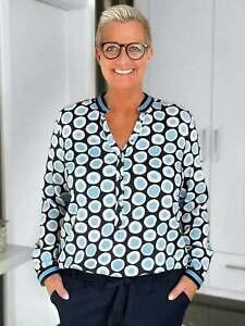 Emily Van Den Bergh - Blusenshirt Blue Dots / blau-navy