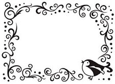 """Darice Embossing """"Bird Scroll Frame"""" 1216-63 For Cards Or Scrapbooking"""