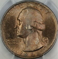 1944-S Silver Washington Quarter Coin, PCGS MS-64, Beautifully Toned