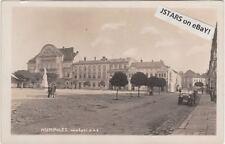 c. 1920s HUMPOLEC, CZECH REPUBLIC, STREET POSTCARD RPPC