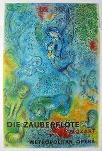 Marc Chagall The Magic Flute (Die Zauberflote) Mourlot Large Lithograph Art