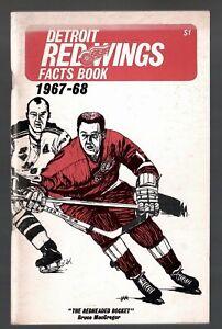 1967-68 DETROIT RED WINGS NHL MEDIA GUIDE YEARBOOK FACT BOOK GORDIE HOWE
