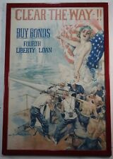 Clear the Way! Fourth Liberty Loan Original Howard Chandler Christie WWI Poster