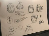 Star Wars Production Used Concept Art Print Lucasfilm BB8 Droid Jake Lunt