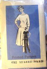 Vintage Ladies sewing pattern no. 4582 Top, Skirt & Pants size 14,16,18,20