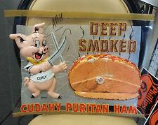 Pig Vintage vacuum formed plastic sign ~ Cudahy Puritan Ham