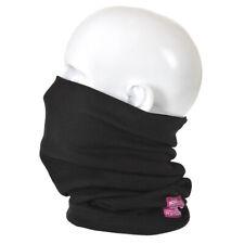Portwest FR19 - Black Flame Resistant Anti-Static Neck Tube Snood Welding