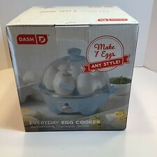 Dash 7-Egg Everyday Rapid Electric Egg Cooker, Blue, Brand New