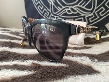431c69aeb1 Bvlgari Sunglasses Cats Eye Authentic Rose Gold Metal Sides Black Frames
