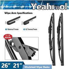 Yeahmol Metal Frame Windshield Wiper Blades J Hook 26 21 Quality Set Of 2