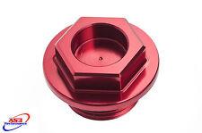 SUZUKI RM RMZ 80 85 125 250 450 1982-2017 CNC ALUMINIUM OIL FILLER PLUG RED