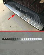 Steel Rear Bumper Sill Plate Cover Trim for 2016-2018 Mercedes-Benz Vito Brushed