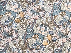 Sanderson William Morris Fabric Golden Lily Minor Turquoise Blue&Green 56x51cm