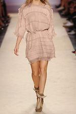 ISABEL MARANT Odrys silk trimmed ramie dress