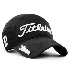 Embroidered Titleist Golf Cap Black Adjustable Strapback: One Size Fits Most