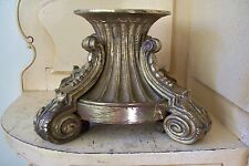 ANTIQUE FRENCH BRONZE BASE STAND IDEAL FOR CENTERPIECE VASE SCULPTURE