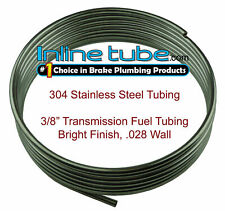 "304 Stainless Steel Brake Fuel Transmission Line Tubing 3/8"" Od Coil Roll Flare (Fits: Oldsmobile)"